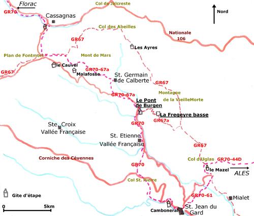 Randonn es gites randos cevennes randonnees parc national des cevennes rand - Mas dans les cevennes ...
